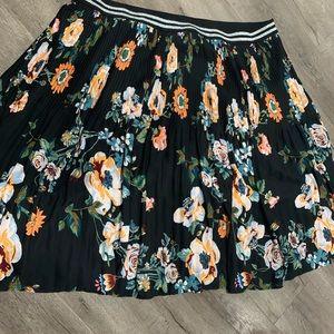 Ava&Viv floral black skirt